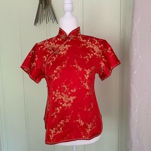 100% Silk East Asian Traditional Top